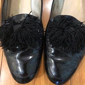 Ferragamo black patent leather loafers